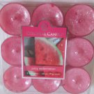 Colonial Candle ~~JUICY WATERMELON~~ Scented Tea Lights 9/ pack New