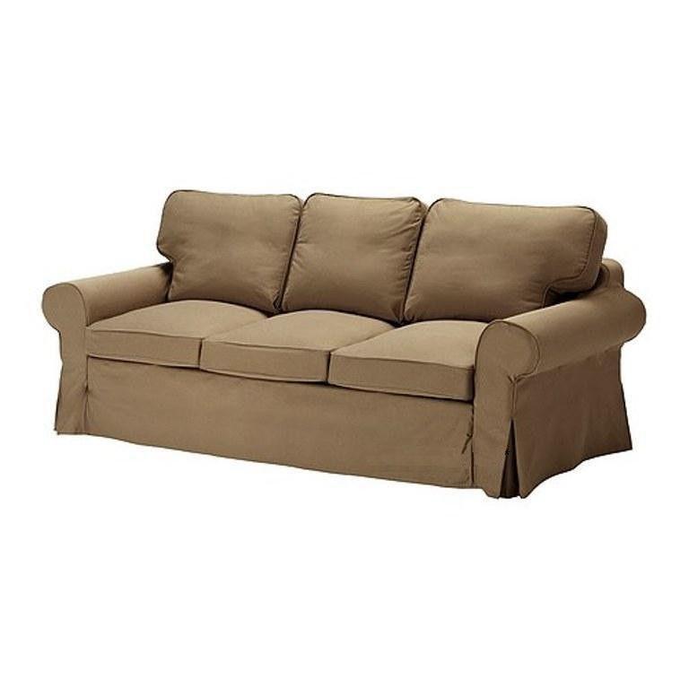 Ikea Ektorp Pixbo 3 seater Sofa Bed Cover Idemo Light