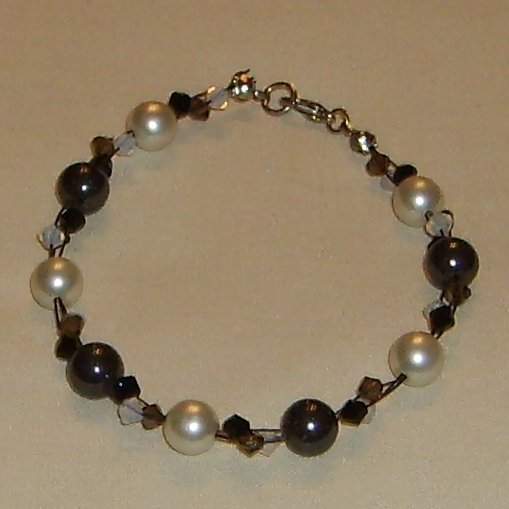 elegant black and white bracelet