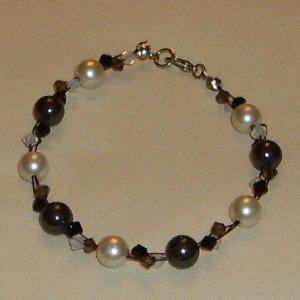 elegant black and white bracelet