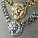 King and Queen of the jungle GOLD LIoN Head Necklace 2 for one PrICE ELVIS RIANa..