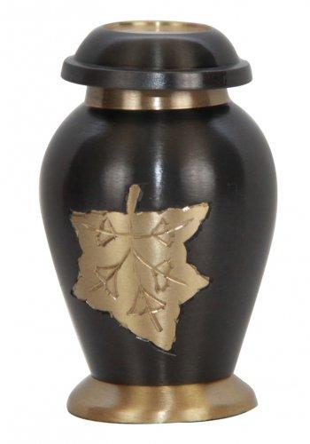 Mini Memorial Prairie Wheat Keepsake Cremation Urn For Ashes With Velvet Box