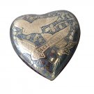 Mini Homeward Bound Heart Shaped Keepsake Urn For Token Amount of Ash Available With Stand