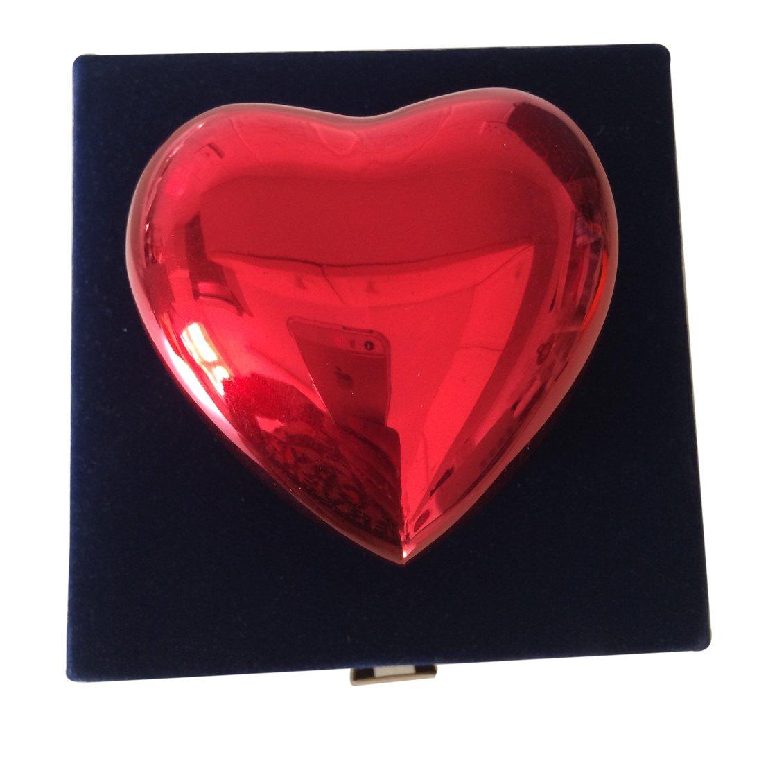 Classic Red Heart Keepsake Urn, Memorial Urns