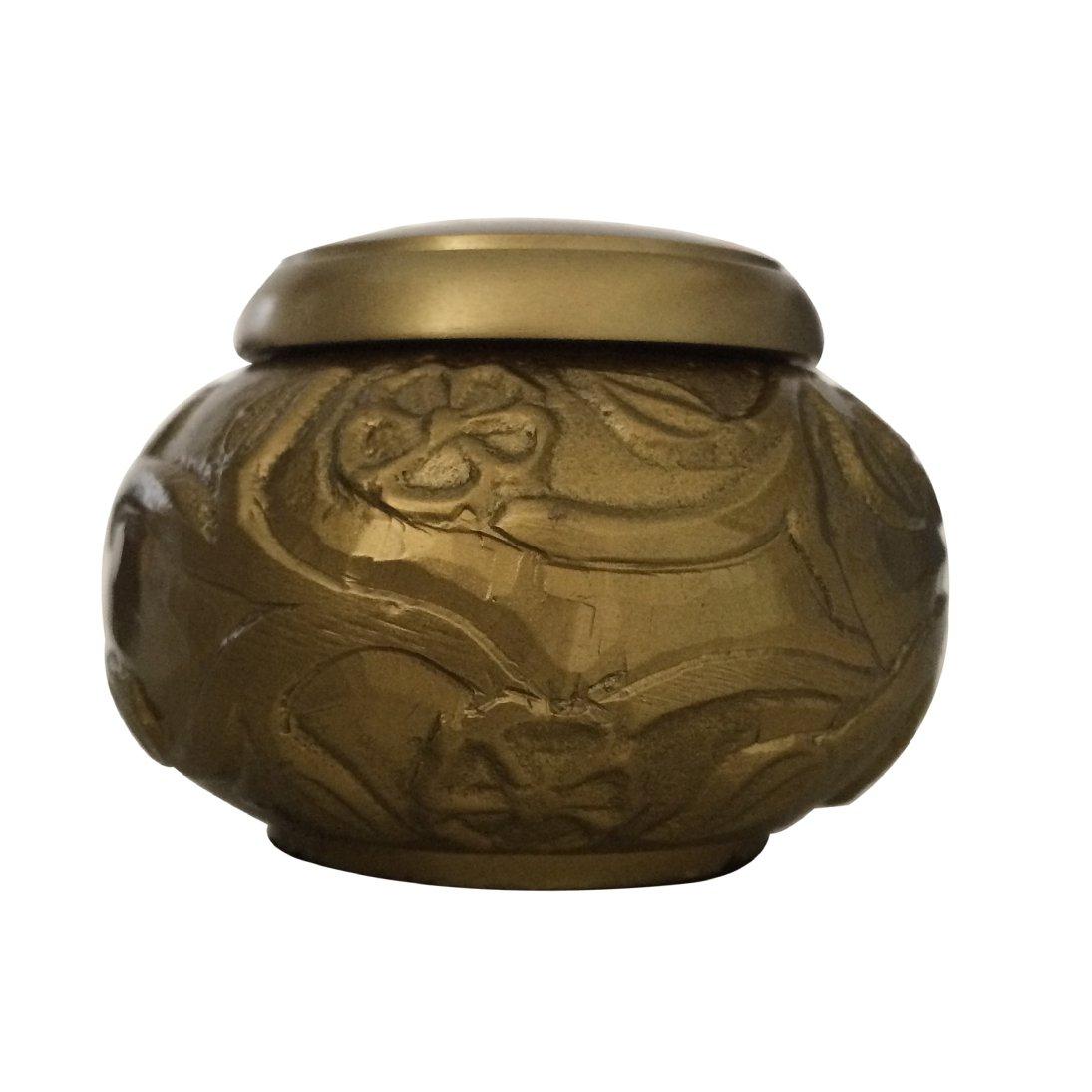 Climbing Roses Golden Cremation Keepsake Urn Ashes