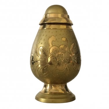 Engraved Silver And Gold Keepsake Urn Ashes, Cremation Urns