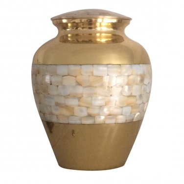 Adult Pearls Urns For Ashes - Elite Mother Of Pearl Adult Cremation Urn For Human Ashes