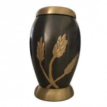 Small Keepsake Autumn Harvest Urn For Ashes With Velvet Box
