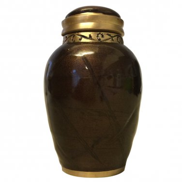 Blessing Bronze Small Keepsake Urn, Mini Cremation Urns for Ashes