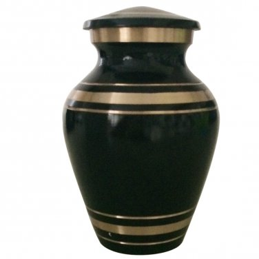 Elite Onyx Small Keepsake Brass Urn, Mini Cremation Urns for Ashes