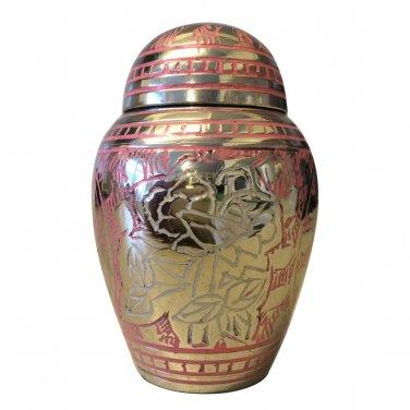 Pink Rose Engraved Small Keepsake Urn,