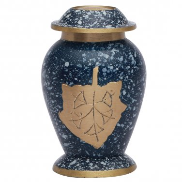 Autumn Leaves Patina Keepsake Memorial Urn