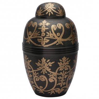 Windsor Black Large Adult Cremation Urn for Ashes, Human Funeral Urns USA