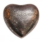 Glenwood Small Heart Keepsake Urn with Stand, Brass Funeral Urn Ashes