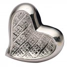 Mini Theale Nickel Heart Keepsake Memorial Urn, Brass Cremation Urn for Ashes USA