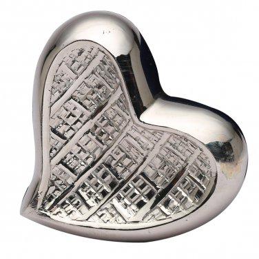 Mini Theale Nickel Heart Keepsake Memorial Urn, Brass Cremation Urn for Ashes USA