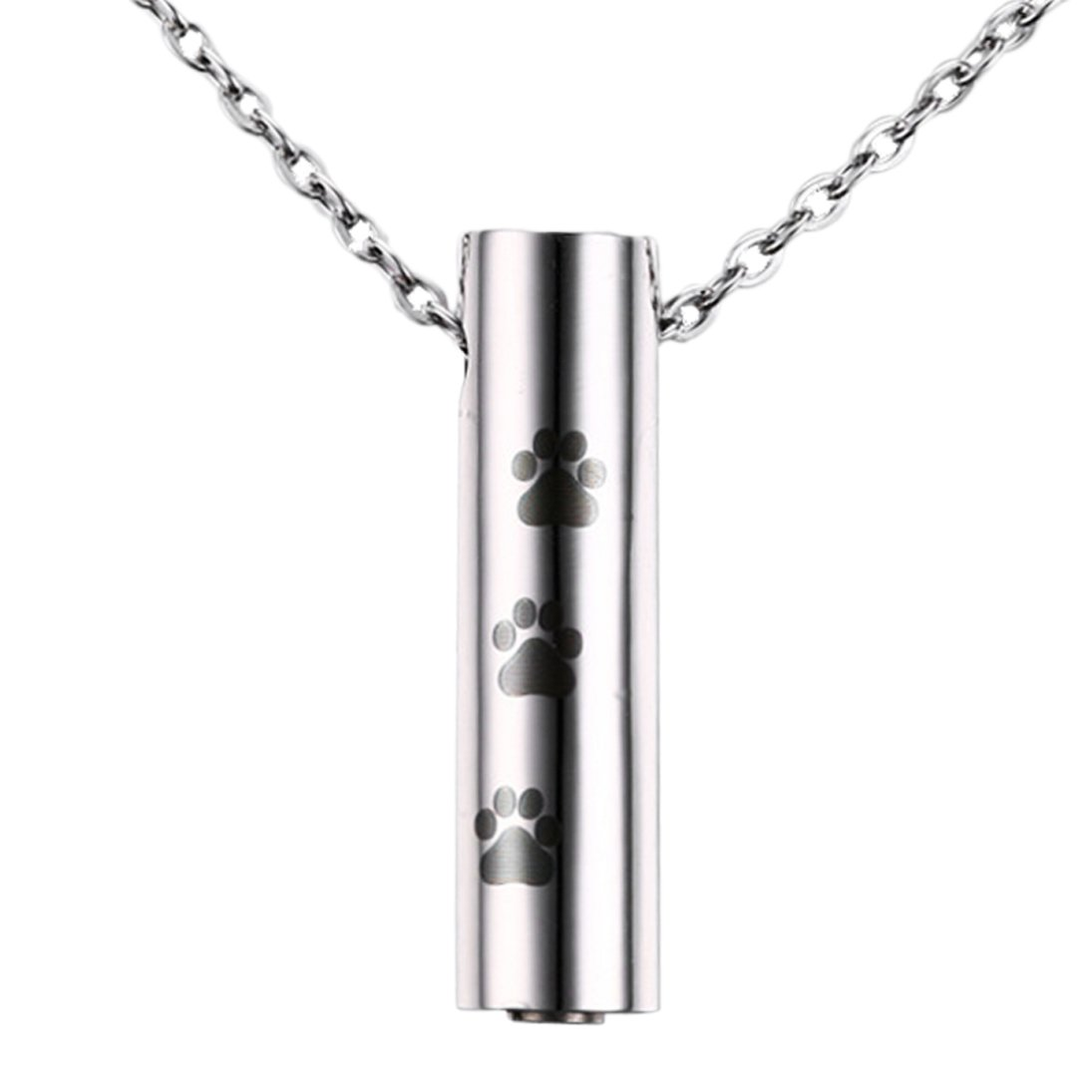 Stainless steel paw print cremation jewelry pendant pet for Stainless steel cremation jewelry