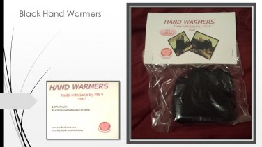 Hand Crocheted Child's Small Black Hand Warmers