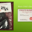 Hand Crocheted Child's Medium Black Fingerless Gloves