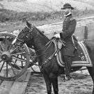 New 5x7 Civil War Photo: General William T. Sherman on Horse, Atlanta