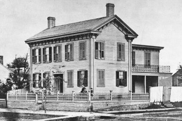 New 5x7 Photo: President Abraham Lincoln's Home in Springfield, Illinois