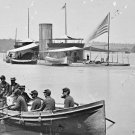 New 5x7 Civil War Photo: USS Onondaga and Federal Row Boat on the James River