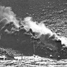 New 5x7 World War II Photo: Allied Tanker Torpedoed by German Submarine