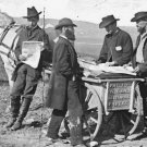 New 5x7 Civil War Photo: Newspaper Vendor with Cart in Union Camp