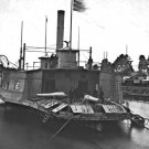 New 5x7 Civil War Photo: Ferryboat - Gunboat on the Pamunkey River
