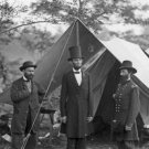 New 5x7 Civil War Photo: Abraham Lincoln with Generals Pinkerton & McClernand