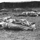 New 5x7 Civil War Photo: Confederate Casualties at Federal Center, Gettysburg