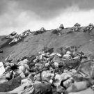 New 5x7 World War II Photo: 5th Division Marines on Iwo Jima Beach