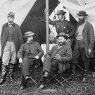 New 5x7 Civil War Photo: Allan Pinkerton with Men in Camp, Antietam - Sharpsburg