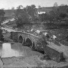 New 5x7 Civil War Photo: Army Wagons Cross Antietam Creek at Sharpsburg