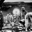 New 5x7 World War II Photo: 4th Marine Division on Beaches of Iwo Jima
