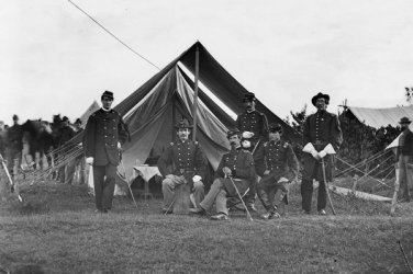 New 5x7 Civil War Photo: Gen. Robert Nugent & Staff of the Famous Irish Brigade