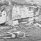 New 5x7 Civil War Photo: Confederate Soldier at Devil's Den, Gettysburg