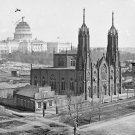 New 5x7 Civil War Photo: Church & Unfinished Capitol Building in Washington