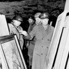 New 5x7 World War II Photo: Eisenhower, Patton & Bradley inspect German Treasure
