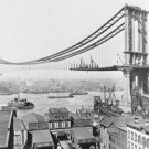 New 5x7 Photo: Manhattan Bridge under Construction, New York City