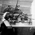 New 5x7 World War II Photo: Tanks Passing Arc de Triomphe after Liberation