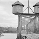 New 5x7 Civil War Photo: Fortified Bridge Over the Cumberland River, Nashville