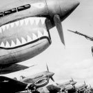 New 5x7 World War II Photo: Chinese Soldier Guarding P-40 Flying Tigers