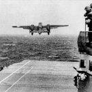 New 5x7 World War II Photo: B-25 Launch off USS HORNET, 1st Air Raid over Japan
