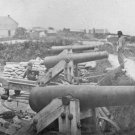 New 5x7 Civil War Photo: Confederate Battery with Nelson Church Beyond, Yorktown