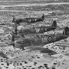 New 5x7 World War II Photo: Spitfires on Patrol over De Djerba Island, 1943