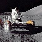 New 5x7 NASA Photo: Eugene Cernan Driving Lunar Rover on Moon