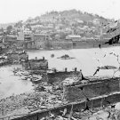 New 5x7 Civil War Photo: View of Town with Bridge in Ruins at Harper's Ferry