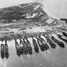 New 5x7 World War II Photo: Landing Ships Tank LST at Leyte Island, Philippines
