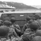 New 5x7 World War II Photo: American Troops Prepare to Land at Normandy, France
